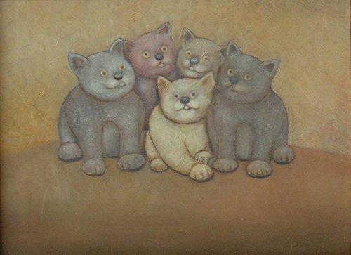 Kumpf Fuenf junge Katzen