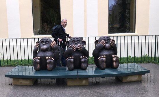 Kumpf Drei Affen nicht hören nicht sprechen nicht sehen