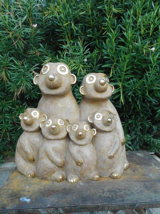Kumpf Große Erdmännchenfamilie