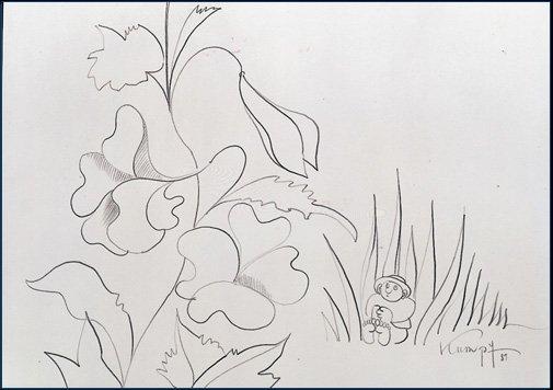 Kumpf Im Blumenbeet