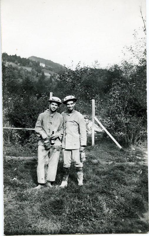 Gottfried Kumpf 1953 als Mineur