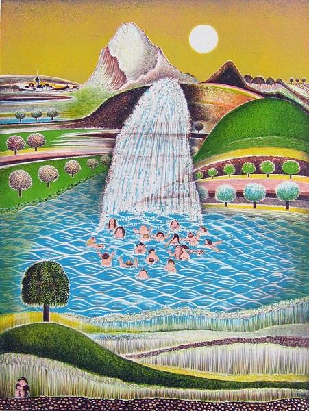 Kumpf Wasser des Lebens weiß