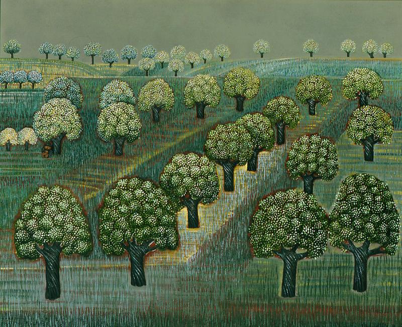 Gottfried Kumpf Obstbaume bei Jois