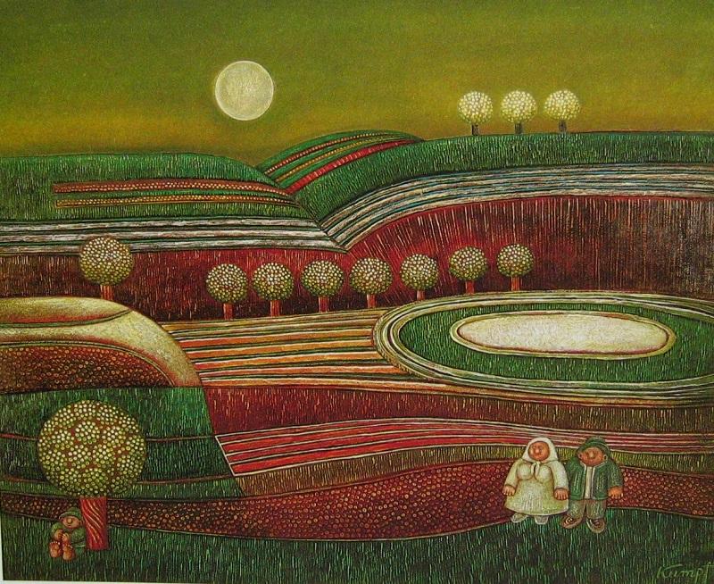 Gottfried Kumpf grüne Landschaft