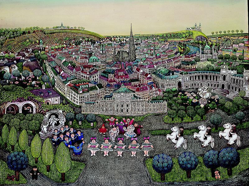 Gottfried Kumpf Wien mit Burgtheater