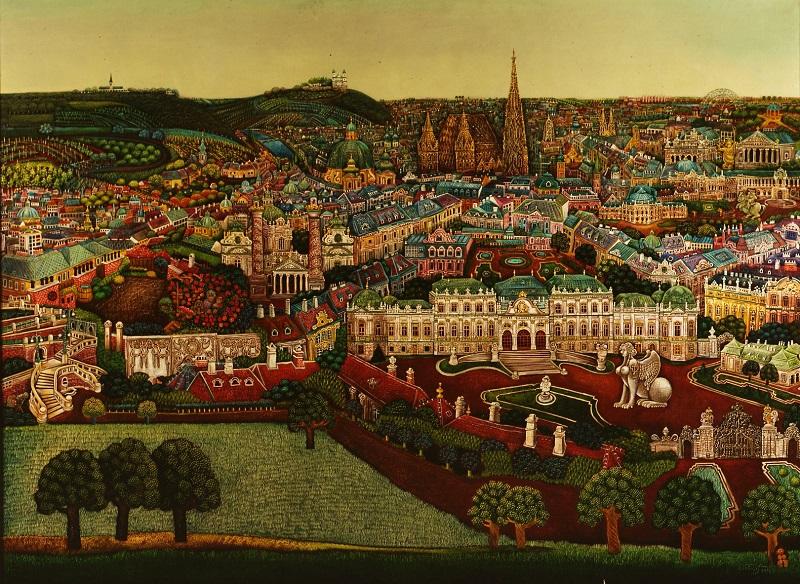 Gottfried Kumpf Wien mit Belvedere