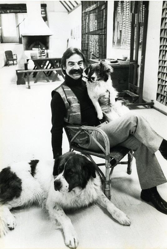 Gottfried Kumpf mit Bari und Bella
