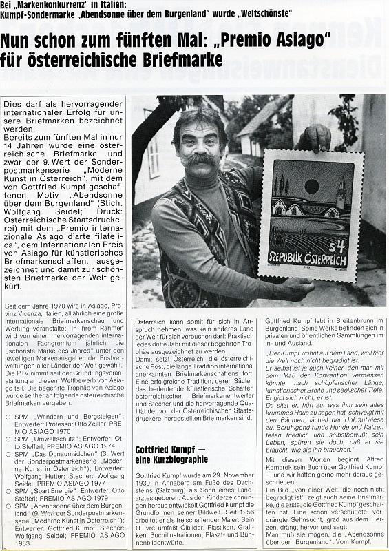 Gottfried Kumpf Zeitungsartikel