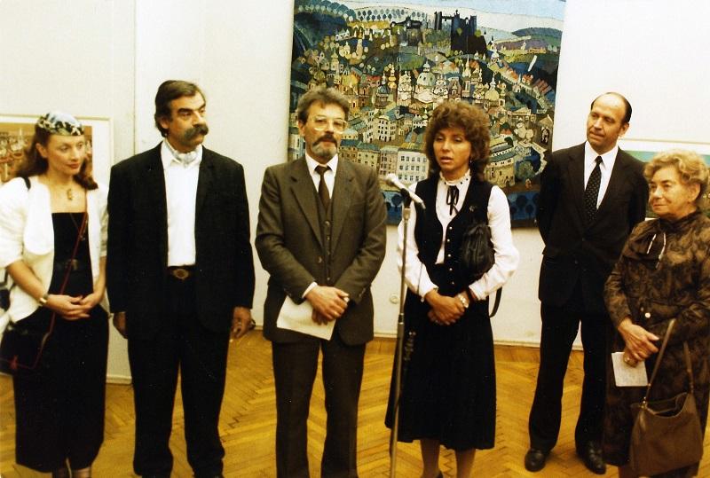 Gottfried Kumpf Eröffnung der Ausstellung in Moskau