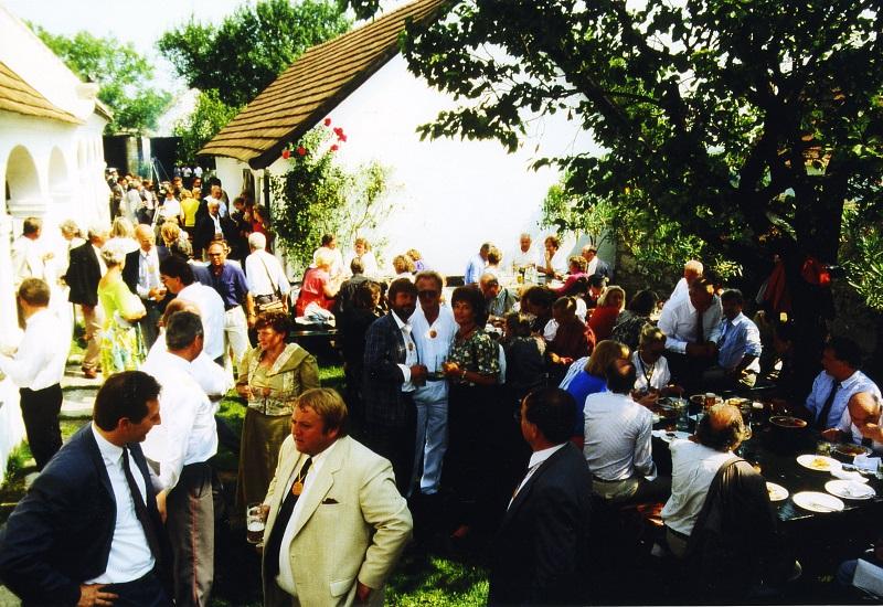 Gottfried Kumpf das Ehrenbürgerfest im Kumpf´schen Streckhof in Breitenbrunn
