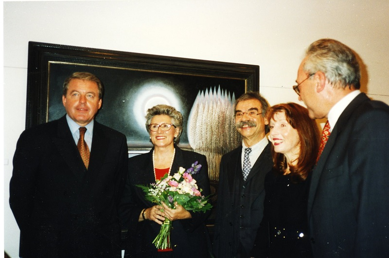 Gottfried Kumpf Ausstellung in Wien Bundeskanzler Dr.Vranitzky, Bundesministerin Dr.Krammer, Landeshauptmann Stix