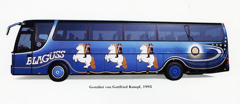 Gottfried Kumpf Bemalung für einen Luxusbus