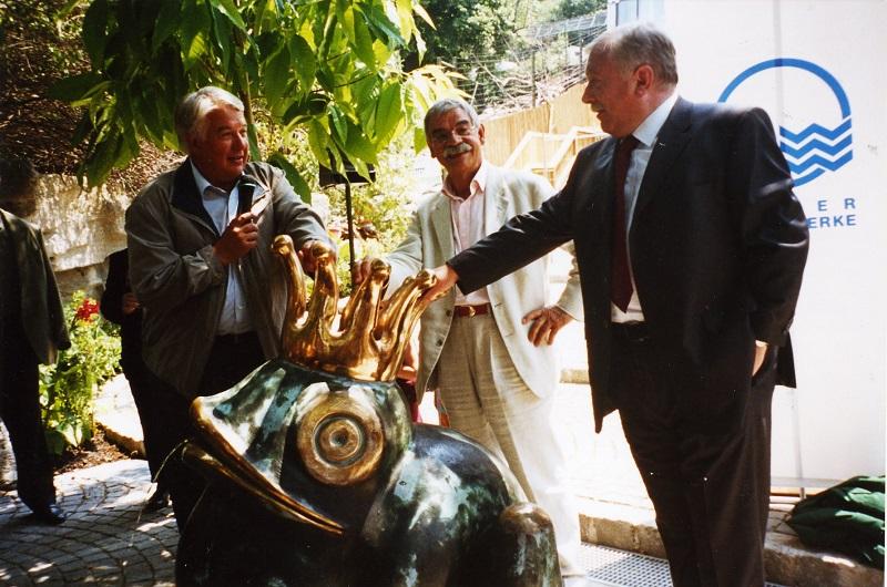 Gottfried Kumpf Eröffnung im Tiergarten Schönbrunn Direktor Dr.Helmut Pechlaner Bürgermeister Dr.Michael Häupl