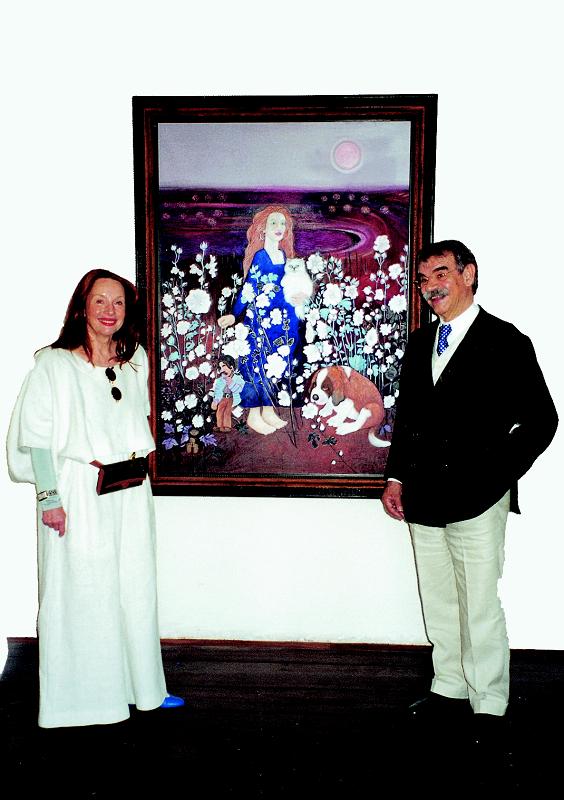Gottfried Kumpf Guni und Gottfried Kumpf Ausstellung im Schloss Burgau