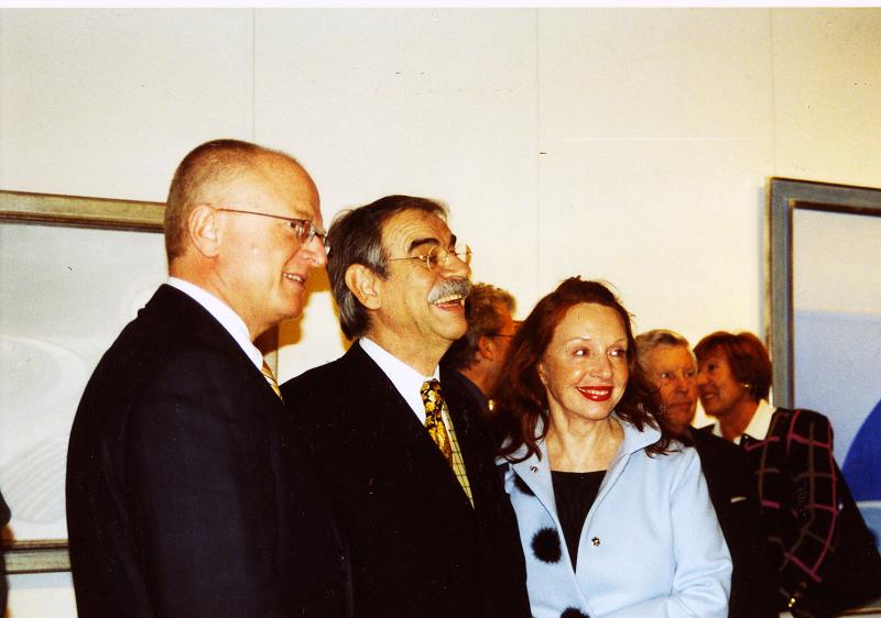 Gottfried Kumpf Prof.Ernst Hilger Gottfried und Guni Kumpf