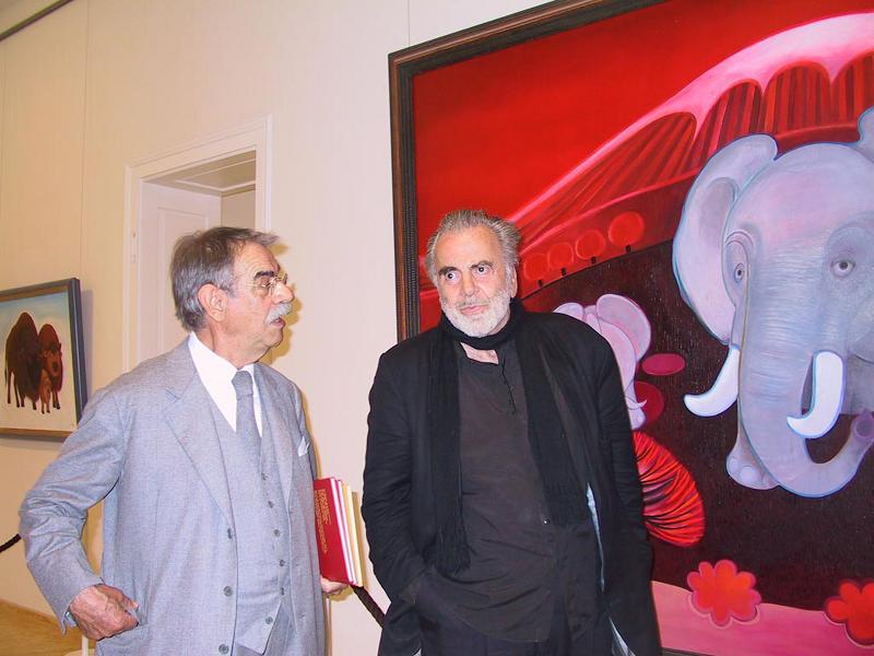 Gottfried Kumpf Gottfried Kumpf Maximilian Schell bei einer Ausstellung von Kumpf
